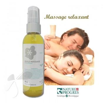 Huile de Massage Biologique Relaxante