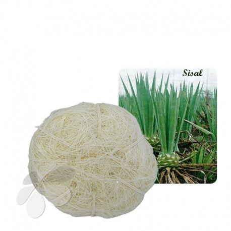 Pelote de Sisal cousue main naturelle - Massage et Gommage