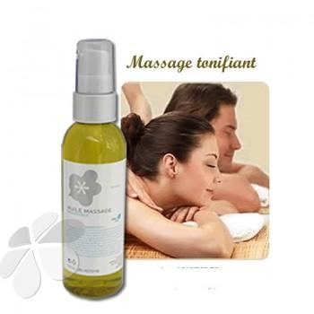 Huile de Massage bio Tonifiante