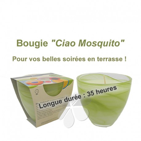 "Bougie Grand Stéarôme ""Ciao Mosquito"""""