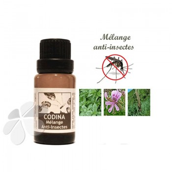 Synergie d'huiles essentielles bio anti-insectes