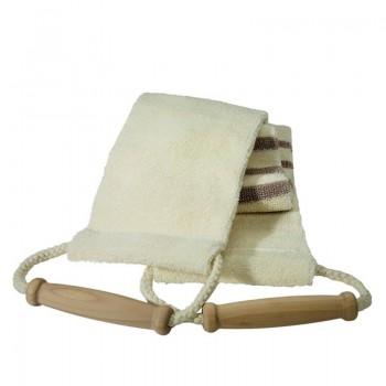 Lanière de massage en coton, toile rayée.