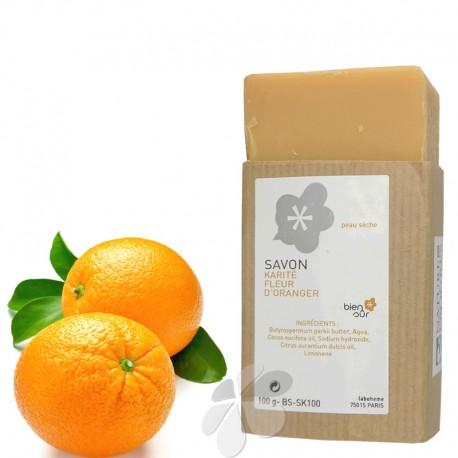 Savon Bio Karité Fleur d'Oranger - peau normale à sèche