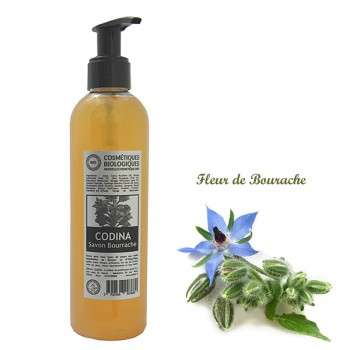 Savon liquide bio Bourrache Ylang-Ylang