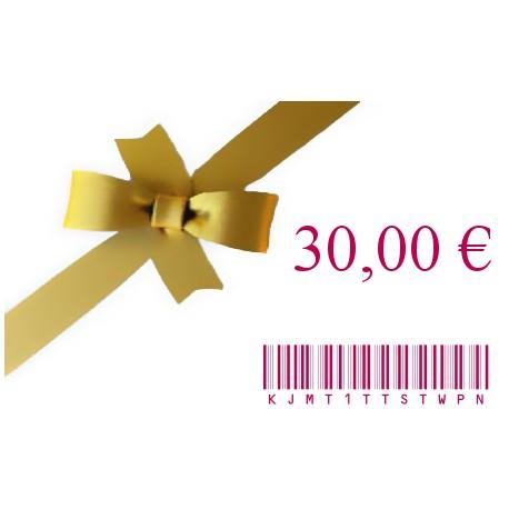 E-Carte Cadeau 30