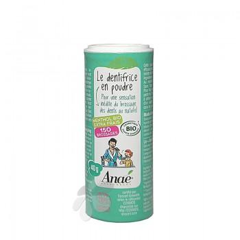Dentifrice bio en poudre Menthol extra frais Anaé