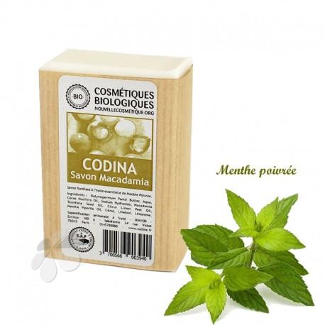 Savon Bio Macadamia Menthe poivrée - savon tonifiant