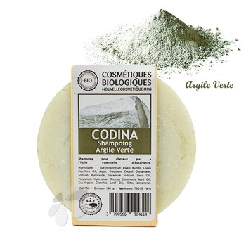 Shampoing solide Bio à l'Argile Verte - cheveux gras