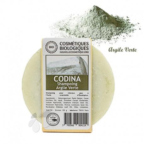 Shampooing solide Bio à l'Argile Verte - cheveux gras 150 g